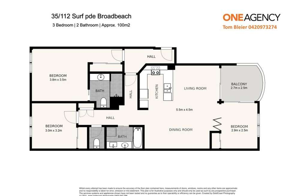 Floorplan of Homely unit listing, 35/112-116 Surf Parade, Broadbeach QLD 4218