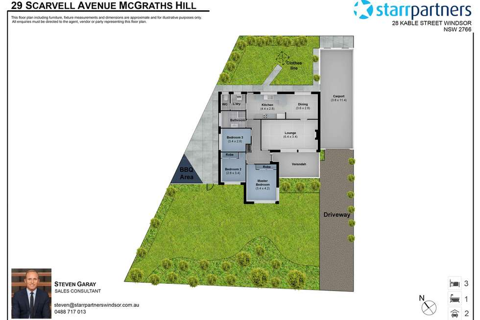 Floorplan of Homely house listing, 29 Scarvell Avenue, Mcgraths Hill NSW 2756