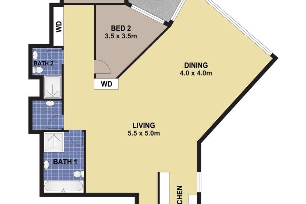 Floorplan of Homely unit listing, 105/3 Sorrelle Street, Parramatta NSW 2150