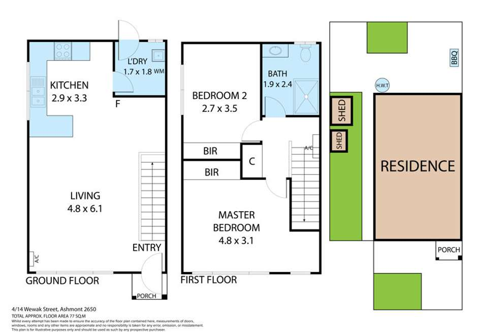 Floorplan of Homely house listing, 4/14 Wewak Street, Ashmont NSW 2650