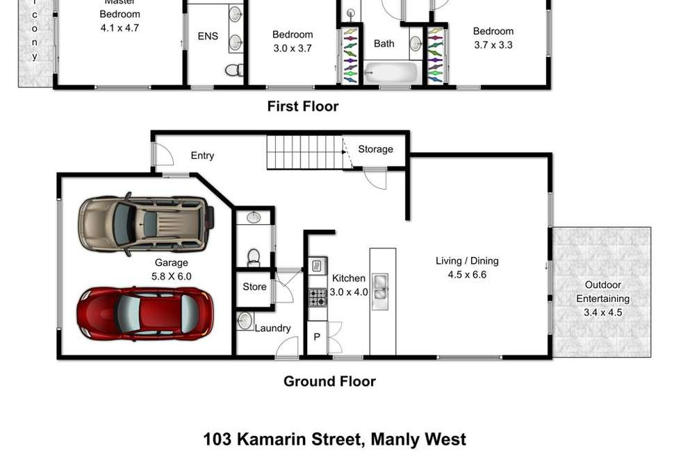 Floorplan of Homely house listing, 103 Kamarin Street, Manly West QLD 4179