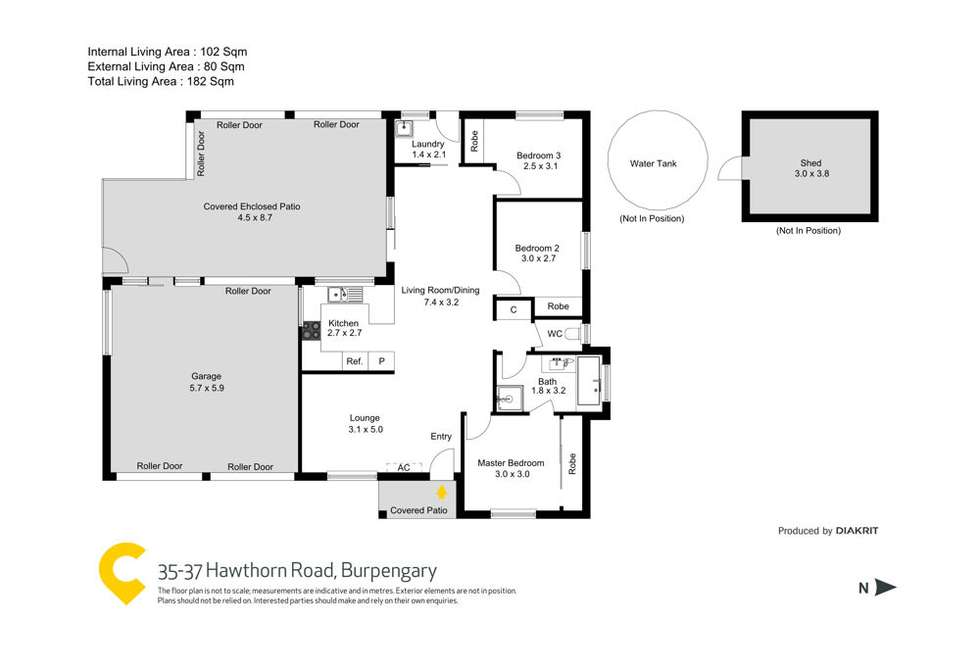Floorplan of Homely acreageSemiRural listing, 35-37 Hawthorn Road, Burpengary QLD 4505