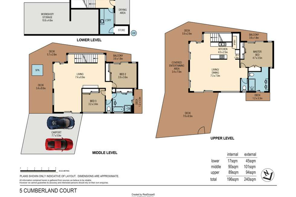 Floorplan of Homely house listing, 5 Cumberland Court, Carina Heights QLD 4152