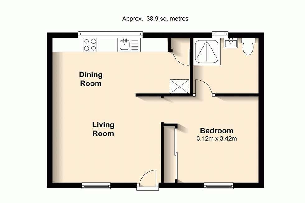 Floorplan of Homely unit listing, 8/191 Kent Street, New Farm QLD 4005