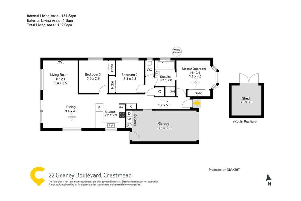 Floorplan of Homely house listing, 22 Geaney Boulevard, Crestmead QLD 4132