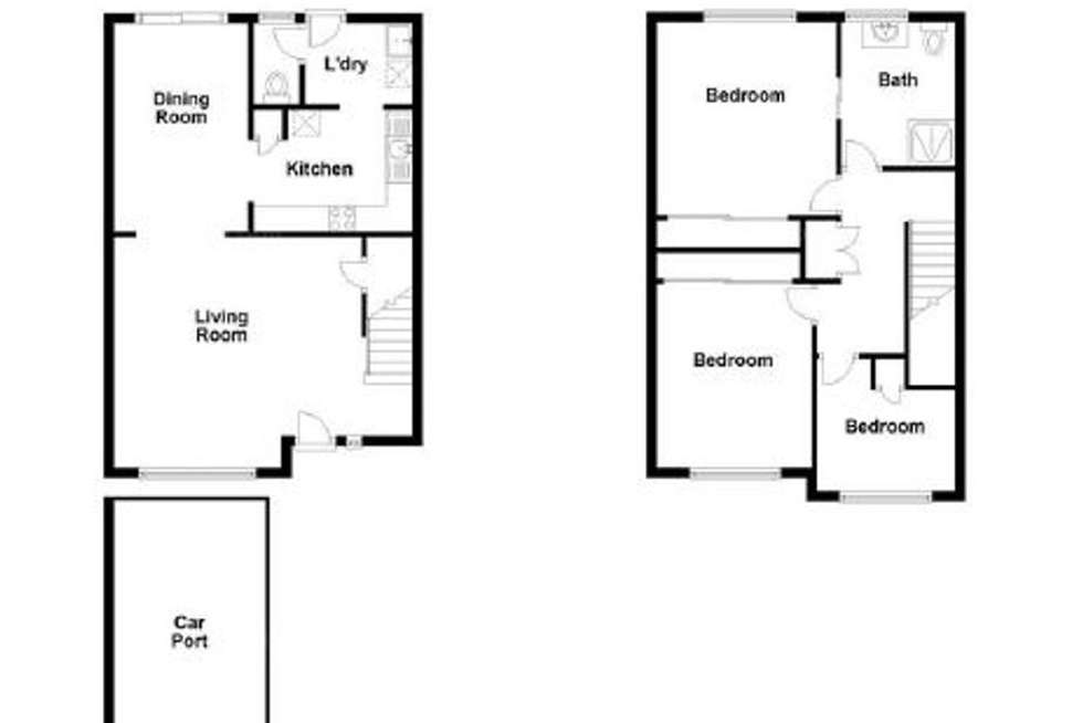 Floorplan of Homely townhouse listing, 37/68 Springwood road, Rochedale South QLD 4123