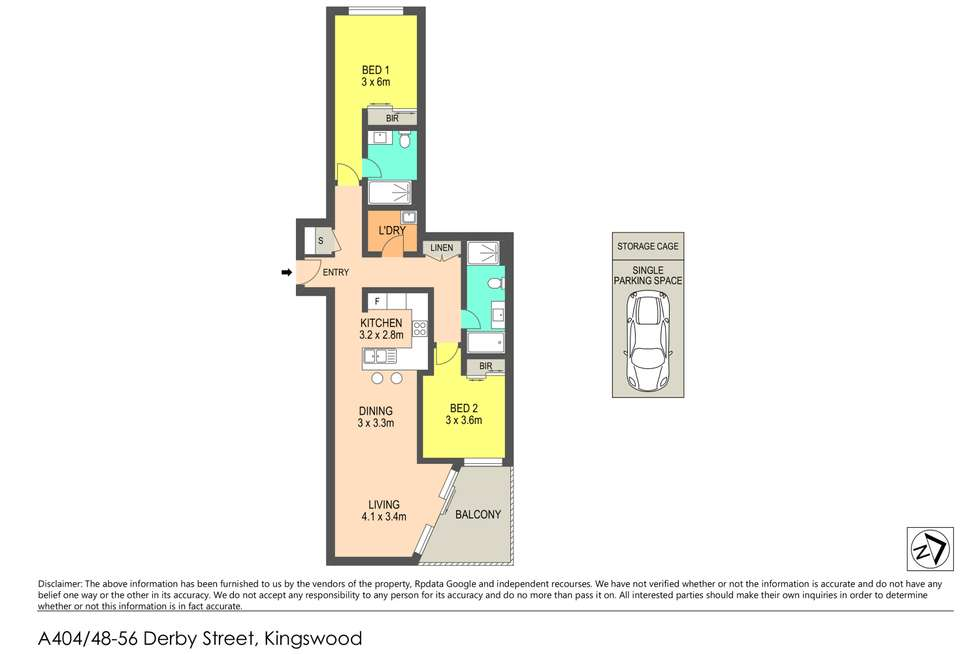 Floorplan of Homely unit listing, A404 48-56 Derby Street, Kingswood NSW 2747