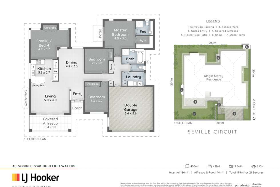 Floorplan of Homely house listing, 40 Seville Circuit, Burleigh Waters QLD 4220
