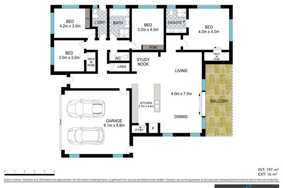Floorplan of Homely house listing, 6 Ironbark Place, Bellingen NSW 2454