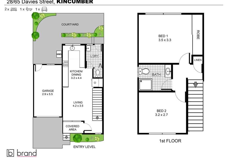 Floorplan of Homely townhouse listing, 28/65 Davies Street, Kincumber NSW 2251