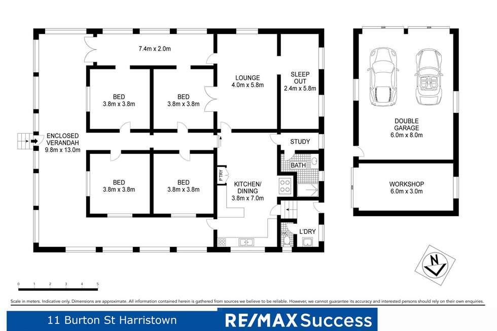 Floorplan of Homely house listing, 11 Burton Street, Harristown QLD 4350