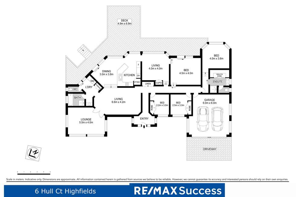 Floorplan of Homely house listing, 6 Hull Court, Highfields QLD 4352