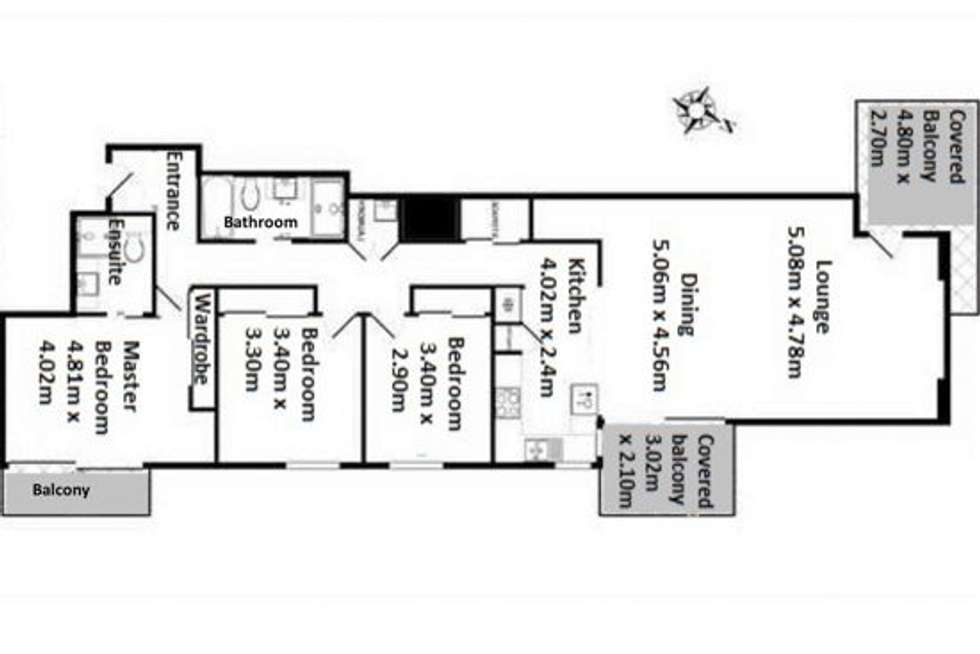 Floorplan of Homely apartment listing, 2306/12 Executive Drive, Burleigh Waters QLD 4220