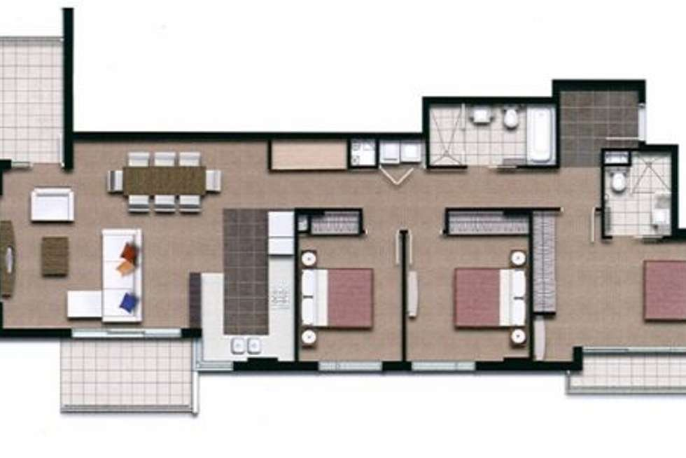 Floorplan of Homely apartment listing, 4206/12 Executive Dr, Burleigh Waters QLD 4220