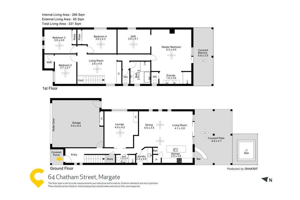 Floorplan of Homely house listing, 64 Chatham Street, Margate QLD 4019