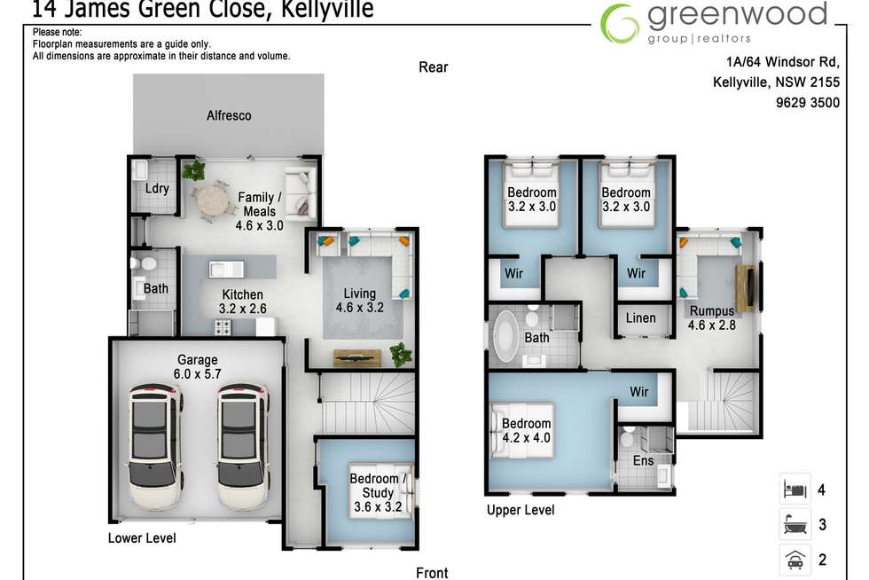 Floorplan of Homely house listing, 14 James Green Close (off Burns Road), Kellyville NSW 2155