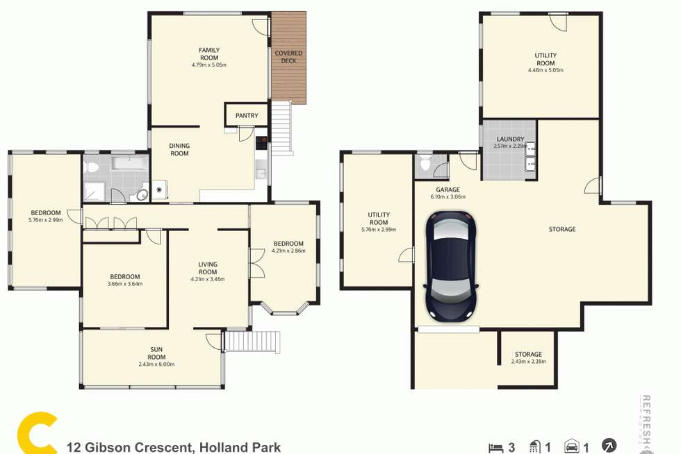 Floorplan of Homely house listing, 12 Gibson Crescent, Holland Park QLD 4121