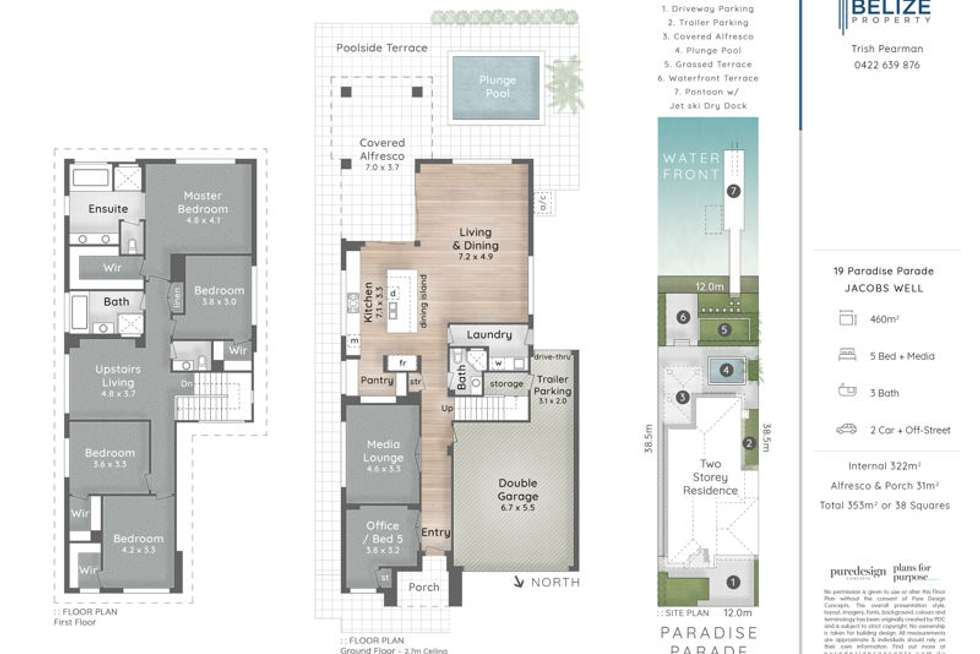 Floorplan of Homely house listing, 19 Paradise Parade, Jacobs Well QLD 4208
