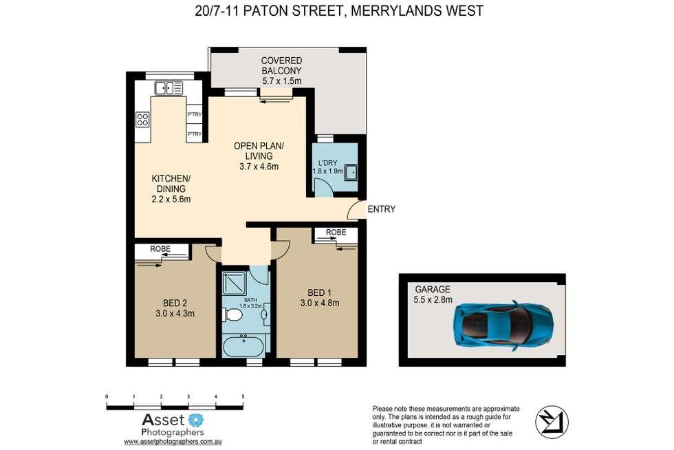 Floorplan of Homely unit listing, 20/7-11 Paton Street, Merrylands NSW 2160