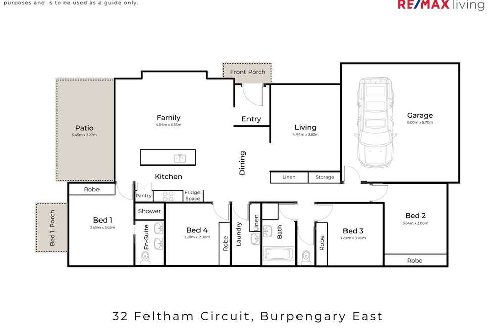 Floorplan of Homely house listing, 32 Feltham Circuit, Burpengary East QLD 4505