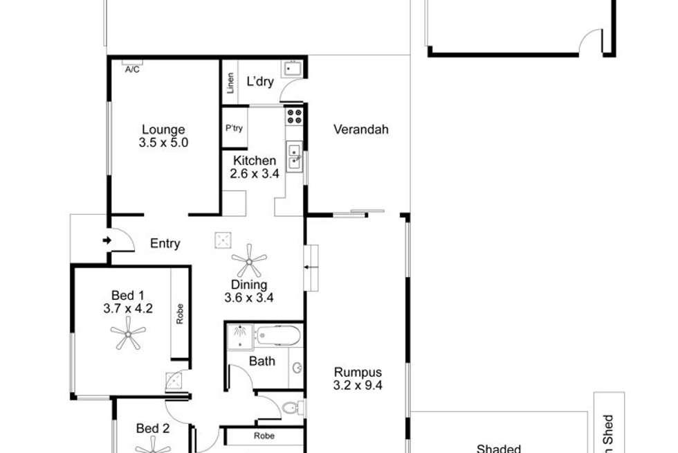 Floorplan of Homely house listing, 10 Lelta Avenue, Salisbury North SA 5108