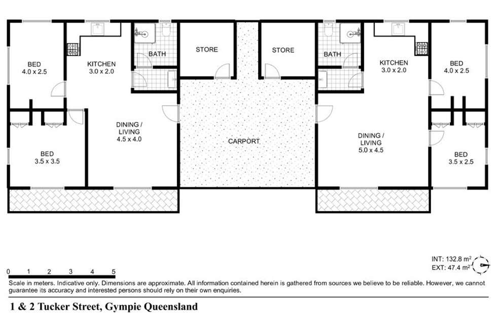Floorplan of Homely unit listing, 18 Tucker Street, Gympie QLD 4570