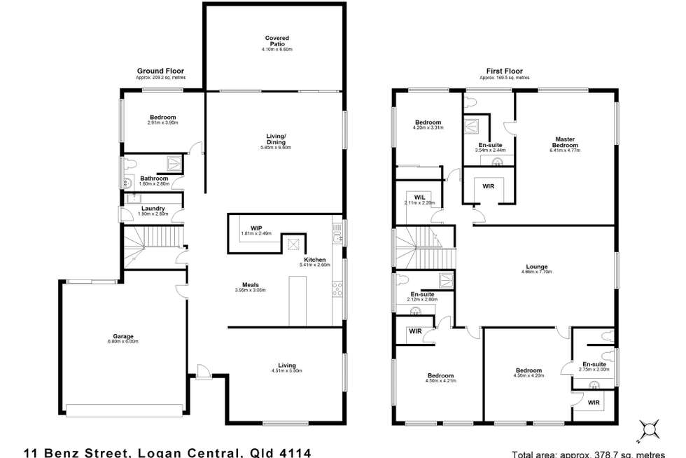 Floorplan of Homely house listing, 11 Benz Street, Logan Central QLD 4114