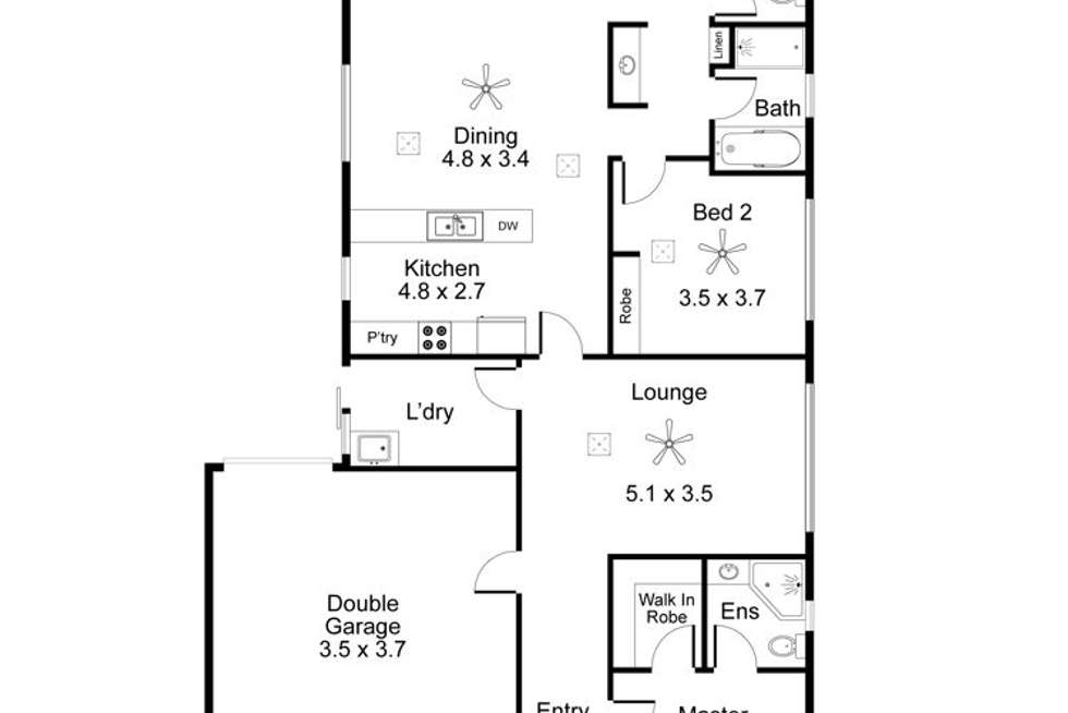 Floorplan of Homely house listing, 22 Salmon Gum Crescent, Blakeview SA 5114