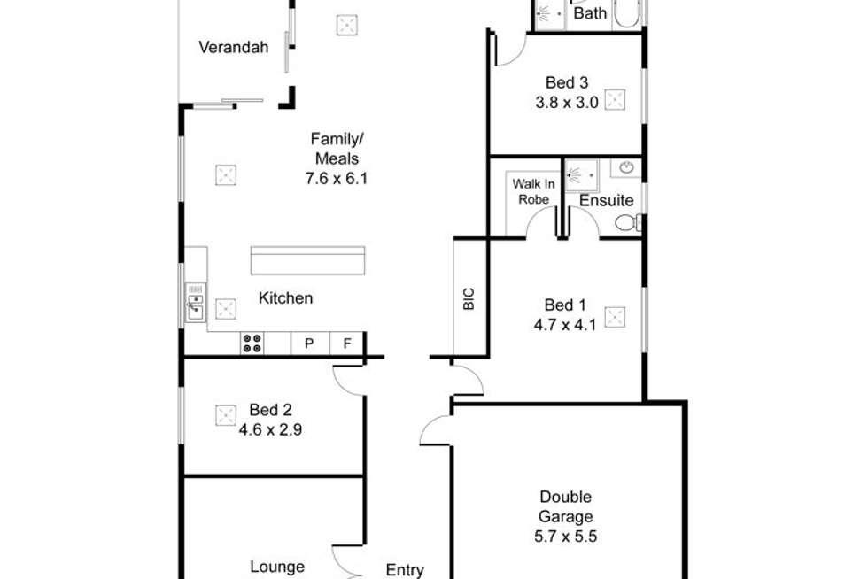 Floorplan of Homely house listing, 31 Mitchell Drive, Evanston Park SA 5116