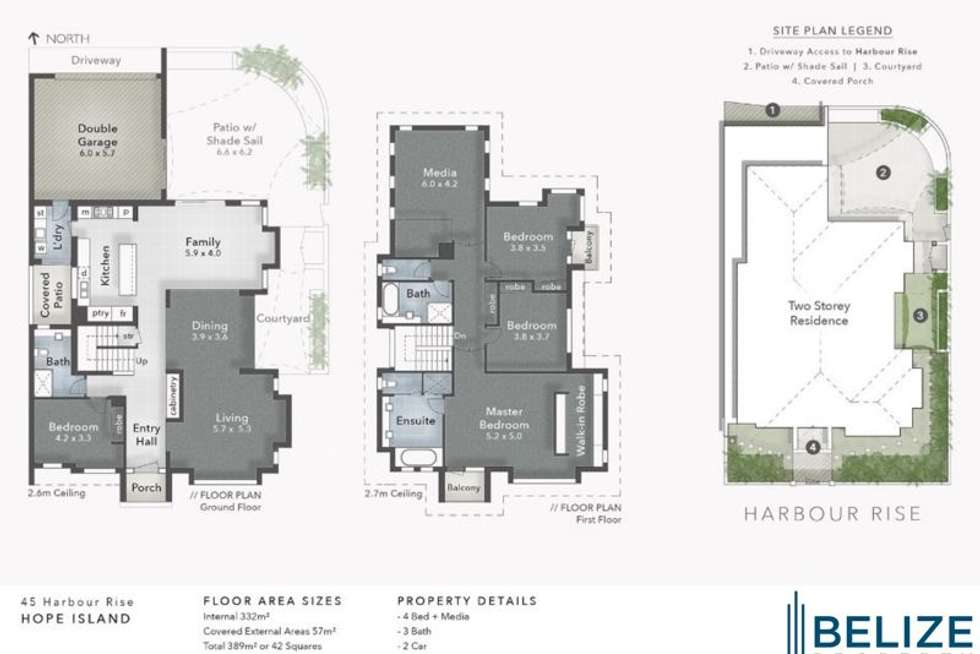 Floorplan of Homely house listing, 45 Harbour Rise, Hope Island QLD 4212