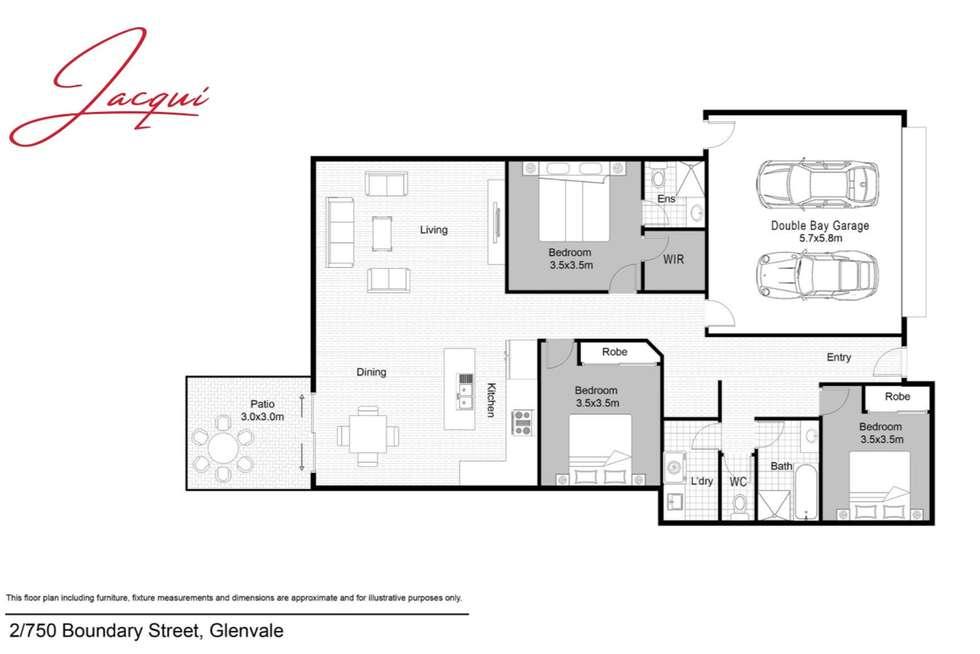 Floorplan of Homely unit listing, 2/750 Boundary Street, Glenvale QLD 4350