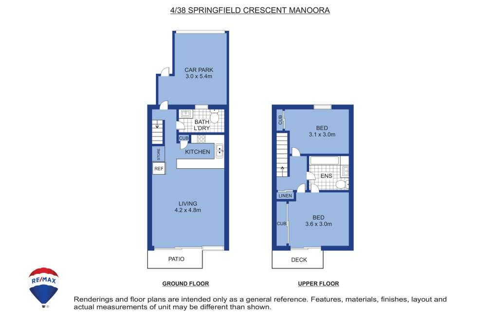 Floorplan of Homely townhouse listing, 4/38 Springfield Crescent, Manoora QLD 4870