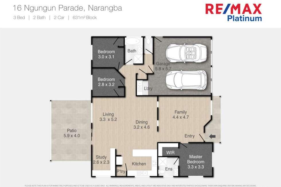 Floorplan of Homely house listing, 16 Ngungun Parade, Narangba QLD 4504