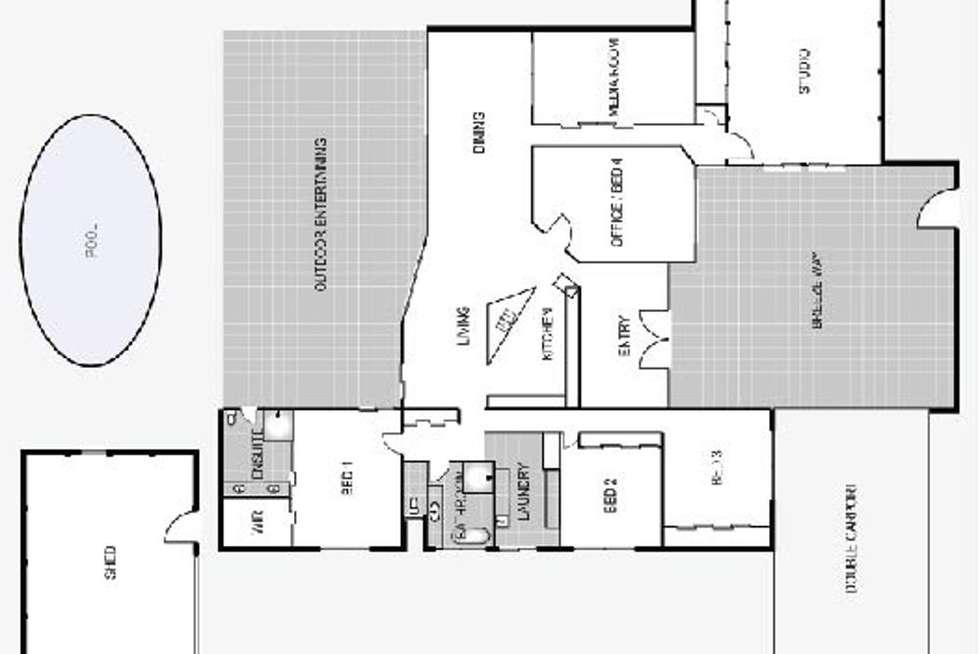 Floorplan of Homely house listing, 16 Isabella Avenue, Glenella QLD 4740