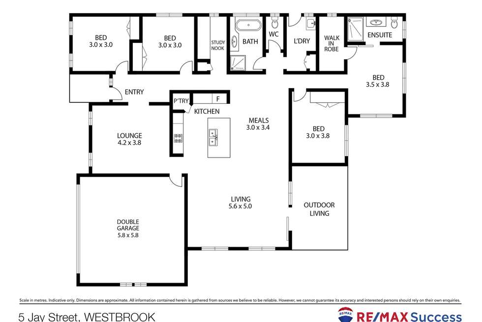 Floorplan of Homely house listing, 5 Jay Street, Westbrook QLD 4350