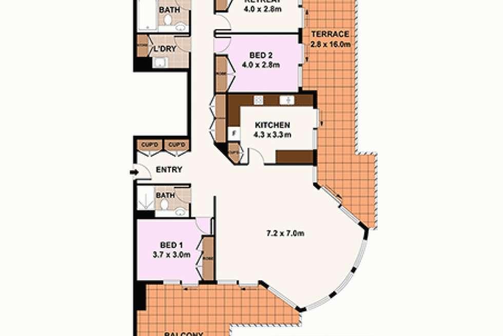 Floorplan of Homely apartment listing, PENTHOUSE 3, 8 Spring Street, Bondi Junction NSW 2022
