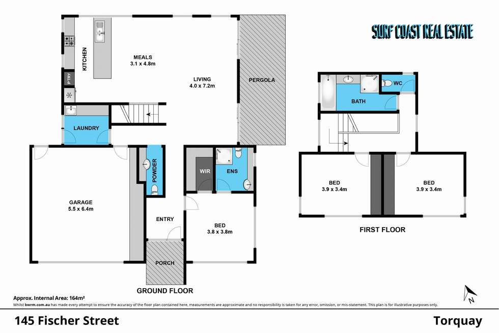 Floorplan of Homely house listing, 145 FISCHER Street, Torquay VIC 3228