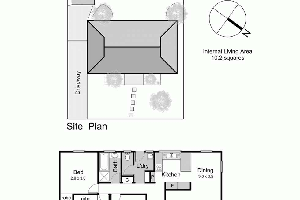 Floorplan of Homely house listing, 4 Deakin Crescent, Baxter VIC 3911