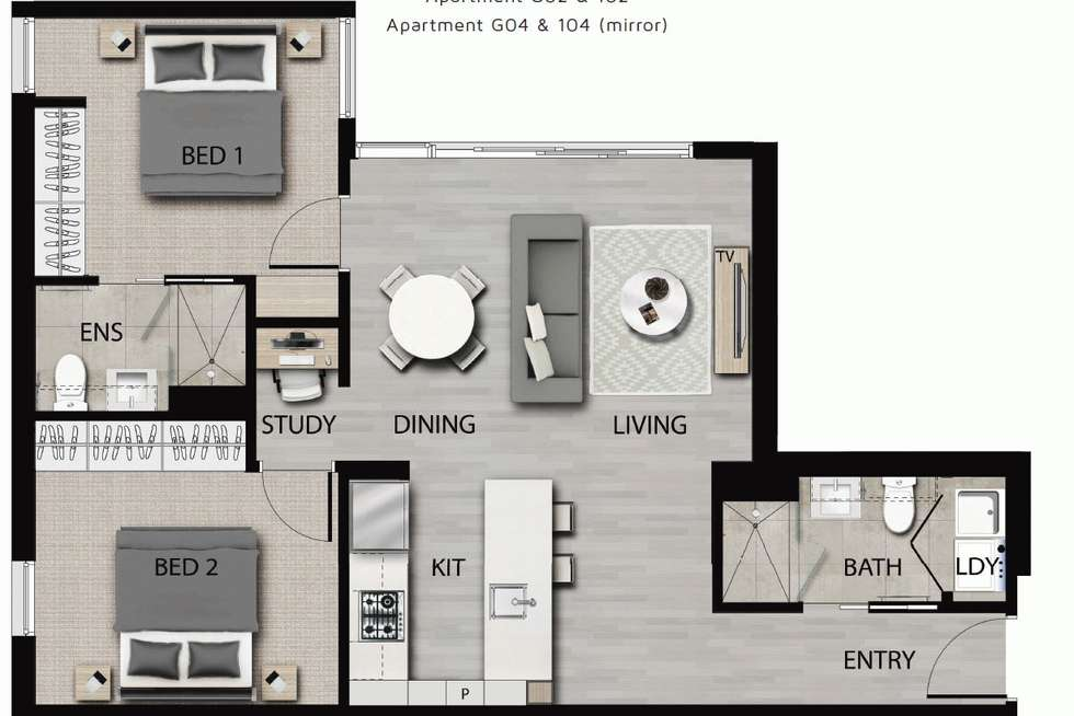 Floorplan of Homely apartment listing, 104/9 Camira Street, Malvern East VIC 3145