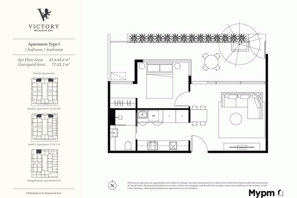 Floorplan of Homely apartment listing, 216/48 Victoria Street, Brunswick East VIC 3057
