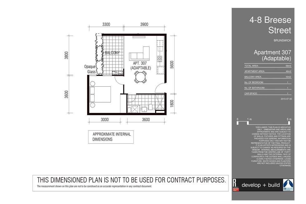 Floorplan of Homely apartment listing, 307/8 Breese Street, Brunswick VIC 3056