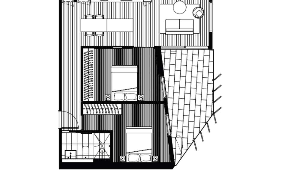 Floorplan of Homely apartment listing, 509/121 Rosslyn Street, West Melbourne VIC 3003