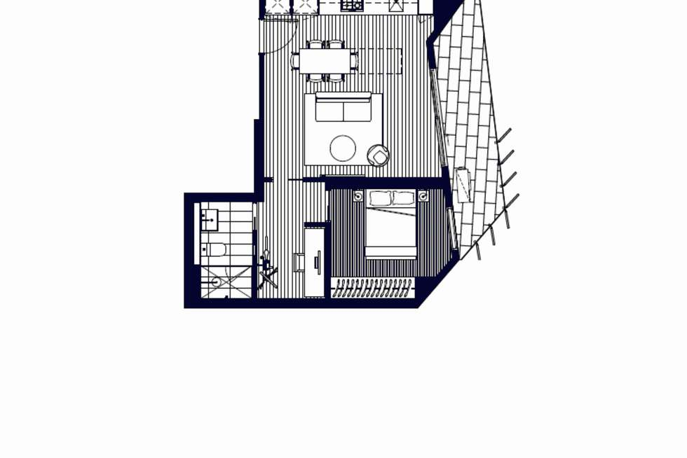 Floorplan of Homely apartment listing, 607/121 Rosslyn Street, West Melbourne VIC 3003