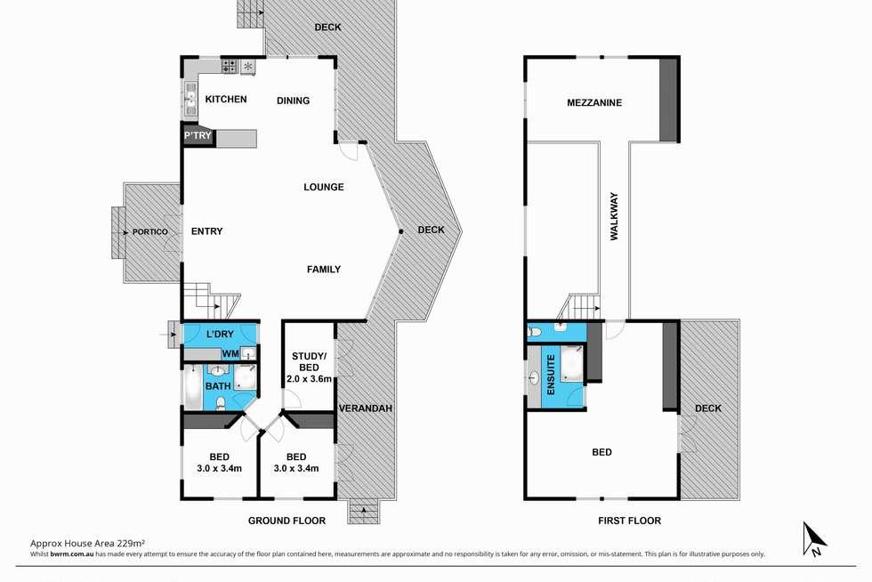 Floorplan of Homely acreageSemiRural listing, 150 CLARKES Road, Wensleydale VIC 3241