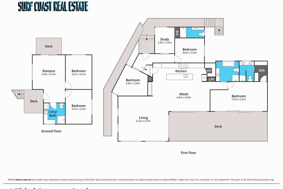 Floorplan of Homely house listing, 1 THIRD Avenue, Anglesea VIC 3230