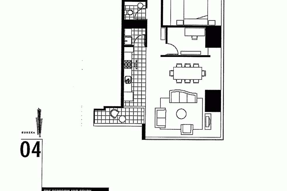 Floorplan of Homely apartment listing, 6404/7 Riverside Quay, Southbank VIC 3006