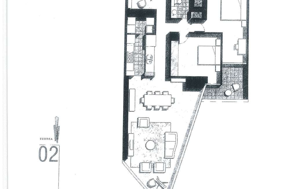 Floorplan of Homely apartment listing, 3702/7 Riverside Quay, Southbank VIC 3006