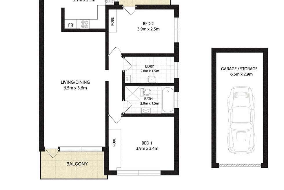 Floorplan of Homely apartment listing, 9/26 Tintern Street, Ashfield NSW 2131