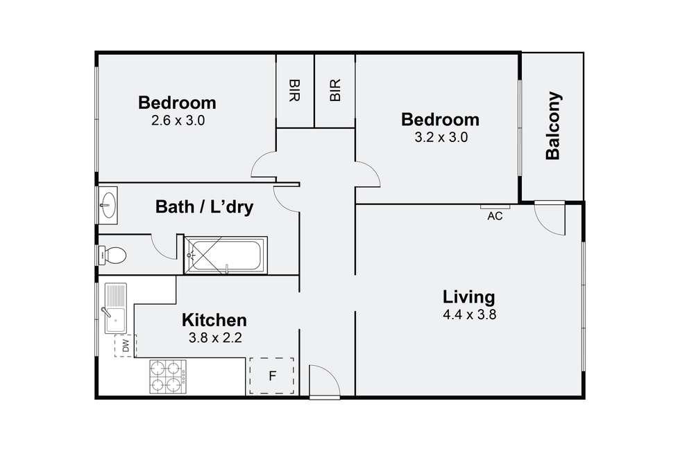 Floorplan of Homely apartment listing, 8/17 Maroona Road, Carnegie VIC 3163
