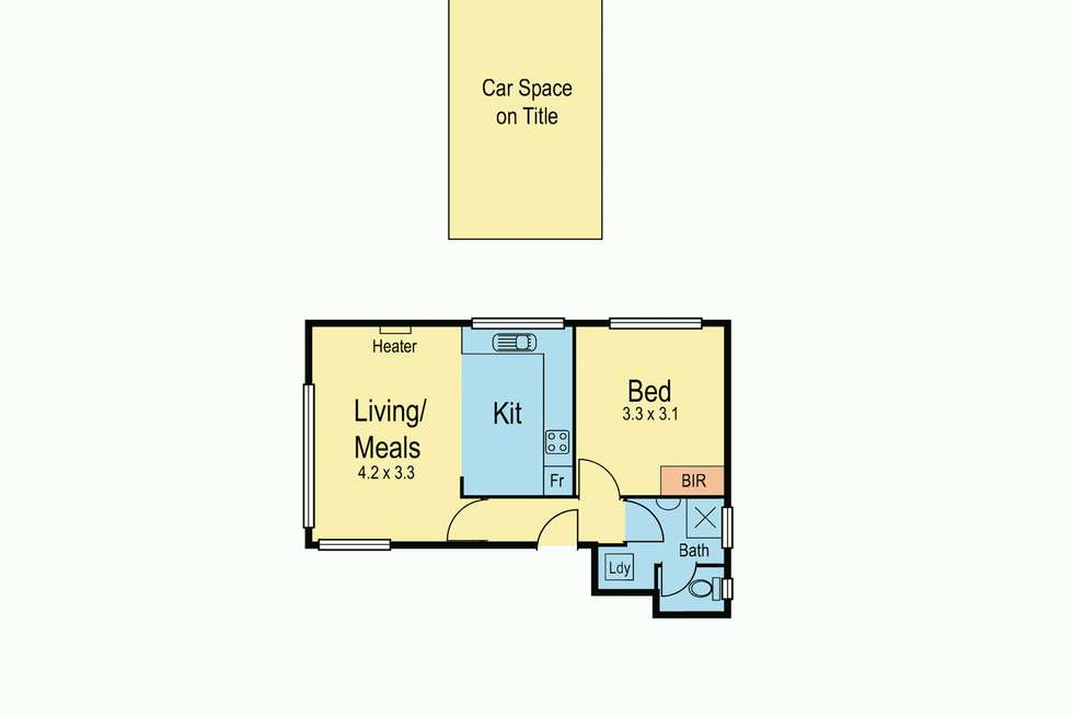 Floorplan of Homely unit listing, 6/218 Gordon Street, Footscray VIC 3011
